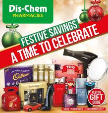 Dis-Chem : Festive Savings (17 Nov - 24 Dec 2017), page 1