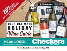 Checkers : Your Ultimate Holiday Wine Guide (20 Nov - 10 Dec 2017), page 1