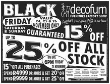 Decofurn : Black Friday (24 Nov - 26 Nov 2017), page 1