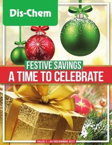 Dis-Chem : Festive Savings (01 Dec - 24 Dec 2017), page 1