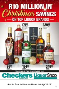 Checkers : Christmas Savings On Top Liquor (04 Dec - 17 Dec 2017), page 1