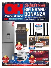 OK Furniture : Christmas Big Brand Bonanza (05 Dec - 17 Dec 2017), page 1
