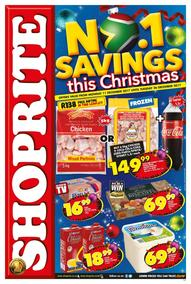 Shoprite : Savings This Christmas (11 Dec - 26 Dec 2017), page 1