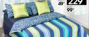 Double Blue Stripe Comforter 200x200cm
