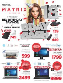 Matrix Warehouse Computers : B-Day Bash (01 Aug - 31 Aug 2018), page 1