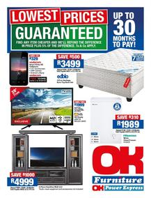 OK Furniture : Lowest Prices (06 Feb - 18 Feb 2018), page 1