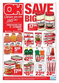 OK Foods Western Cape : Save Big (15 Feb - 20 Feb 2018), page 1