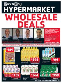 Pick n Pay Hyper : Wholesale Deals (23 Feb - 5 Mar 2017), page 1