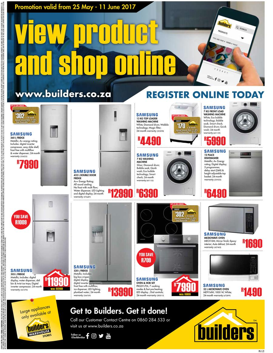 Builders : Appliances (25 May - 11 June 2017)