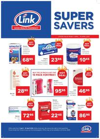Link Pharmacy : Super Savers (01 Apr - 19 Apr 2018), page 1