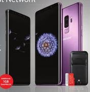 Samsung Galaxy S9 Smartphone Plus 128GB Memory Card & Samsung DexPad(2018)-On Smart S