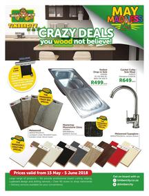 Timbercity : Crazy Deals (15 May - 05 Jun 2018), page 1
