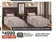4 Piece Mia Twin Bedroom Suite