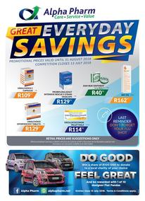 Alpha Pharm : Great Everyday Savings (17 Jul - 31 Aug 2018), page 1