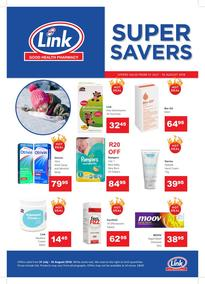 Link Pharmacy : Super Savers (31 Jul - 16 Aug 2018), page 1