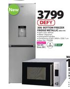 Defy 300Ltr Bottom Freezer Fridge (Metallic) DAC419