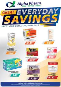 Alpha Pharm : Great Everyday Savings (11 Oct - 31 Oct 2018), page 1