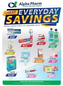 Alpha Pharm : Great Everyday Savings (13 Nov - 31 Jan 2019), page 1