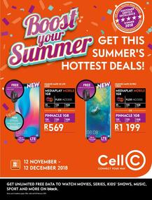 Cell C : Boost Your Summer (12 Nov - 12 Dec 2018), page 1