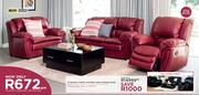 Stirling 3 Piece Single Action Leather Airs Lounge Suite