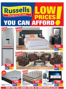 Russells : Low Prices You Can Afford (23 Jan - 18 Feb 2018), page 1