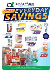 Alpha Pharm : Great Everyday Savings (01 May - 30 Jun 2019), page 1