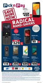 Pick n Pay : Cellular Radical Rand Savers (04 Sep - 08 Oct 2017), page 1