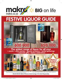 Makro : Festive Liquor Guide (22 Oct - 31 Dec 2017), page 1