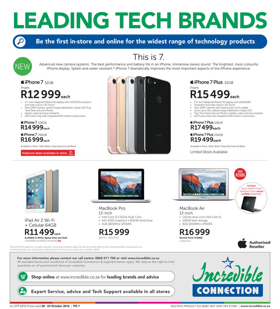 Incredible Connection : Leading Tech Brands (20 Oct - 23 Oct 2016)