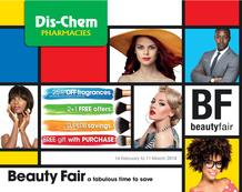 Dis-Chem : Beauty Fair (16 Feb - 11 March 2018), page 1
