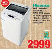 Hisense 8Kg Top Loader Washing Machine WTS802