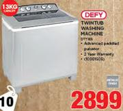 Defy 13Kg Twin Tub Washing Machine DTT165