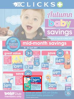 Clicks : Autumn Baby Savings (12 Apr - 14 May 2017), page 1