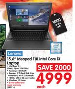 "Lenovo 15.6"" ideapad 110 Intel Core i3 Laptop"