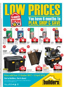 Builders : Price Lock (17 Oct 2017 - 15 April 2018), page 1