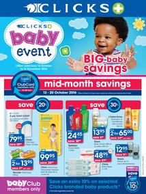 Clicks : Big Baby Savings (13 Oct - 13 Nov 2016), page 1