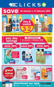 Clicks : You Pay Less (24 Jan - 21 Feb 2018), page 1