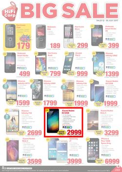 HiFi Corp : Big Cellular Sale (12 July - 30 July 2017), page 1