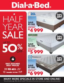 Dial-A-Bed : Half Year Sale (29 June - 31 July 2017), page 1