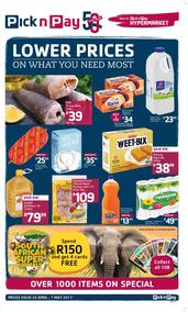 Pick n Pay KZN  : Additional Savings (25 Apr - 07 May 2017), page 1