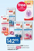 Nuk Soothers 2 Pack+ Free Soother Saver-Per Offer