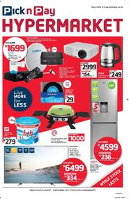 Pick n Pay Hyper : Savings (22 Aug - 03 Sep 2017), page 1