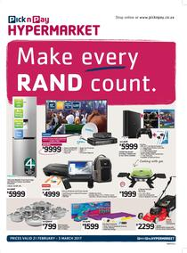 Pick n Pay Hyper : Make Every Rand Count (21 Feb - 5 Mar 2017), page 1