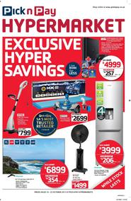 Pick n Pay Hyper : Savings (10 Oct - 22 Oct 2017), page 1