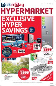Pick n Pay Hyper : Savings (24 Oct - 05 Nov 2017), page 1