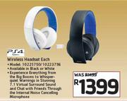 PS4 Wireless Headset-Each
