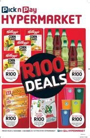Pick n Pay Hyper : R100 Deals (21 Nov - 03 Dec 2017), page 1