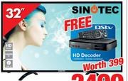 "Sinotec 32"" HD Ready LED TV STL-32VN80D"