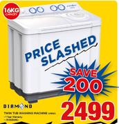 Diamond 16Kg Twin Tub Washing Machine
