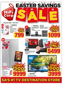 HiFi Corp : Easter Savings Sale (26 Apr - 1 May 2017), page 1